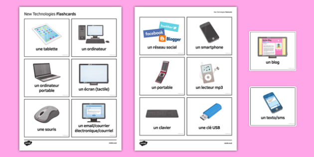 New Technologies Flashcards French - french, new technologies, flashcards, technology, new