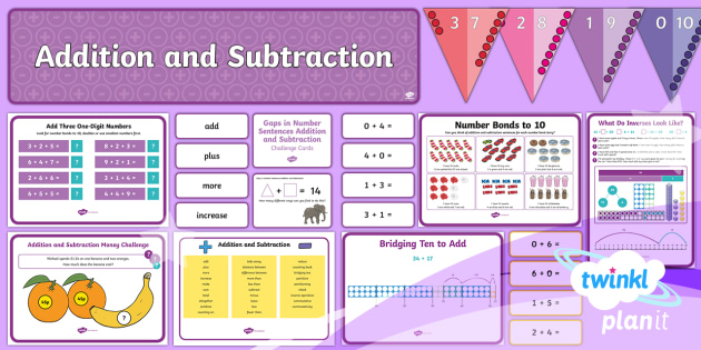 year 2 number addition and subtraction primary resources plan. Black Bedroom Furniture Sets. Home Design Ideas