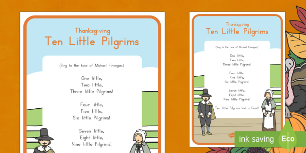 Ten Little Pilgrims Song Lyrics
