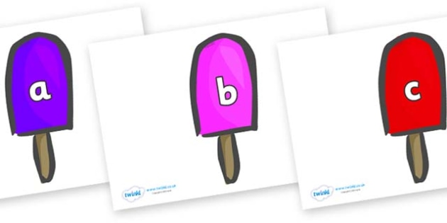 Phase 2 Phonemes on Ice Lollies - Phonemes, phoneme, Phase 2, Phase two, Foundation, Literacy, Letters and Sounds, DfES, display