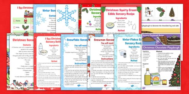 Christmas SEN Sensory Resource Pack - christmas, sen, sensory, resource, pack