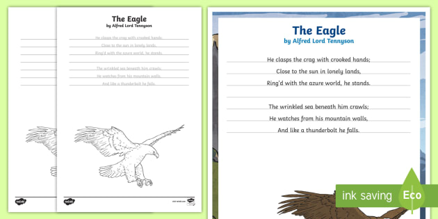 a powerful poem in alfred lord tennysons the eagle Early life tennyson was born on 6 august 1809 in somersby, lincolnshire, england he was born into a middle-class line of tennysons, but also had a noble and royal ancestry (no details supplied.