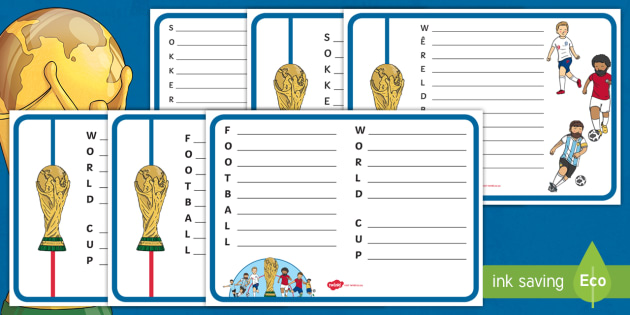 New Football World Cup Acrostic Poem Pack English