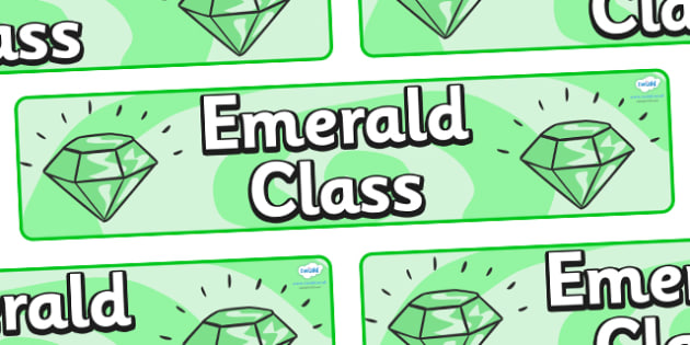 Emerald Themed Classroom Display Banner - Themed banner, banner, display banner, Classroom labels, Area labels, Poster, Display, Areas