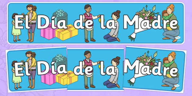 Mother's Day Display Banner Spanish - EAL, translated, mum, family