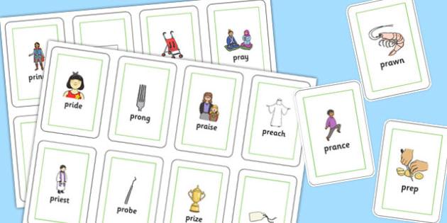 PR Sound Flash Cards - sen, sound, pr sound, pr, sen, flashcards, flash cards