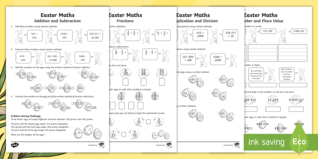 Sats Survival Year 6 Easter Maths Revision Pack
