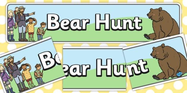Bear Hunt Display Banner - bear hunt, display banner, display