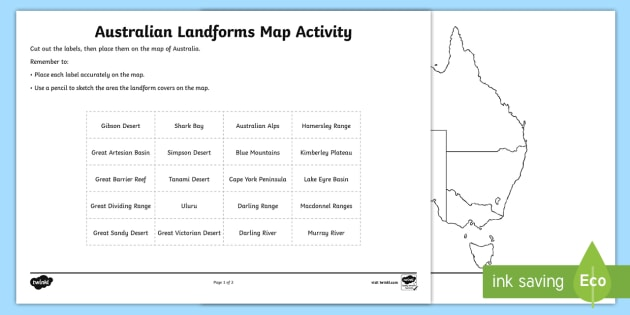 Australian Landforms Map Worksheet / Worksheet - worksheet ... on victoria state australia map, great artesian basin australia map, tasman sea australia map, kimberley australia map, deserts in australia map, barkly tableland australia map, western plateau australia map, lakes in australia map, melbourne australia on map, swan valley australia map, aboriginal australia map, gibson desert australia map, kalgoorlie australia map, tasmania australia map, tanami desert australia map, murray river australia map, australia landforms map, albany australia map, canberra australia map, south west australia map,