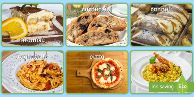 Italian Food Display Photos