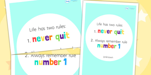 Life Has Two Rules Motivational Poster - motivation, posters