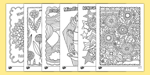 Mindfulness Colouring Sheets Pack - mindfulness, adult colouring