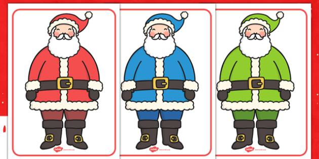 Santa Colour Categorising - colour, categorise, santa, activity