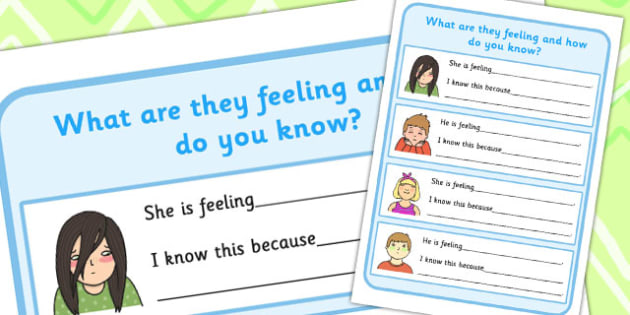 What are They Feeling and How Do You Know? Worksheet (3) - feelings, how