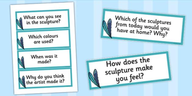 Looking at Sculpture Prompt Questions - sculpture, prompt, art