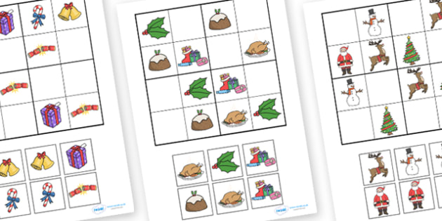 Christmas Themed Sudoku - christmas, sudoku, pictures