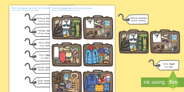 Packing for Weather Around the World Activity English/Polish - Packing for Weather Around the World Activity - activity, game, fun, fun activity, packing, holiday,