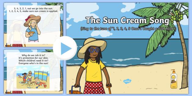 The Sun Cream Song PowerPoint