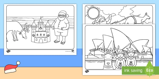 Australian Christmas Colouring Pages Primary Resource Twinkl