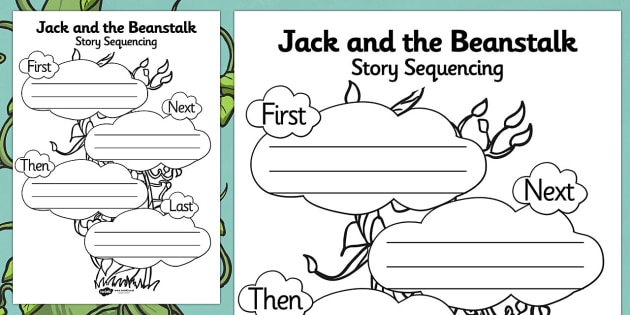 Jack and the Beanstalk Story Sequencing Worksheet - jack and the beanstalk, story sequencing, story sequencing worksheet, worksheet, ordering, sequencing