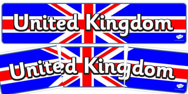 United Kingdom Display Banner - display, banner, united kingdom