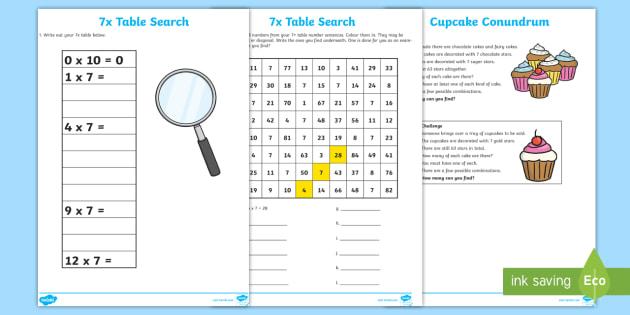 7 x Tables Search - 7 x Tables Search - 7 x table, 7s, multiply by 7 ...