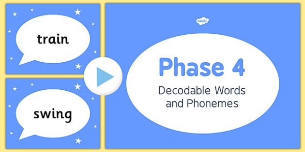 Phase 4 Decodable Words and Phonemes PowerPoint - phase 4, decodable, phonemes, powerpoint, activity