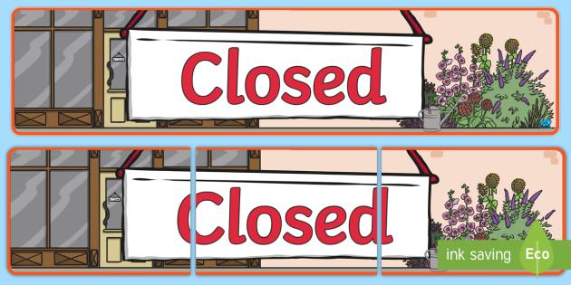 Closed Sign Display Banner - closed sign, display banner, display, banner, closed, sign, display sign