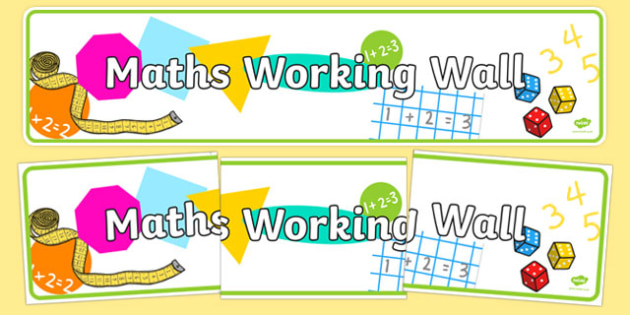 Maths Working Wall Display Banner - maths working wall, display banner, display, banner, maths, working wall