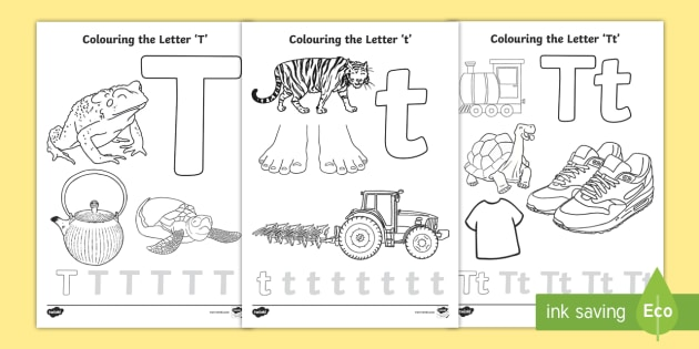 Free Letter T Colouring Pages Teacher Made