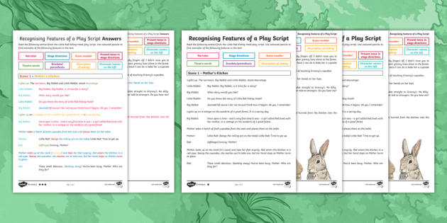 Recognising The Features Of A Play Script The Little Red Riding Hood