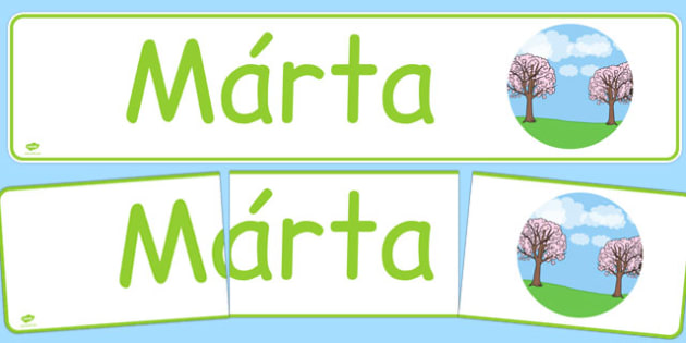 Márta Display Banner Gaeilge - gaeilge, march, display banner, display, banner, months of the year
