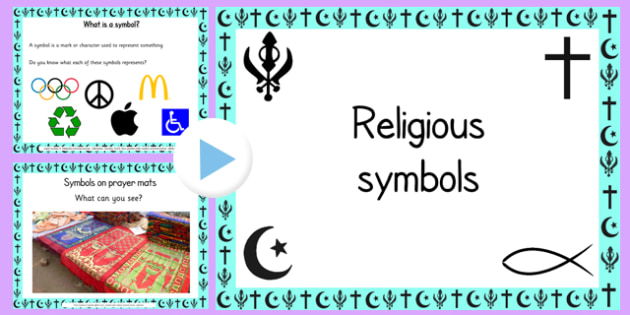 Religious Symbols and Beliefs PowerPoint - religion, RE, belief