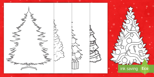 Christmas Tree Outline.Christmas Tree Outline Display Cut Outs Template Cutting