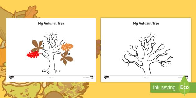 Autumn Tree Template - roi, irish, republic of ireland, autumn, tree, template