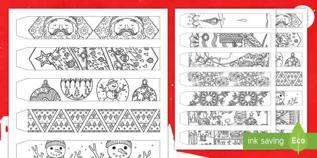 Christmas Paper Chains Uk.Christmas Mindfulness Colouring Paper Chain Christmas