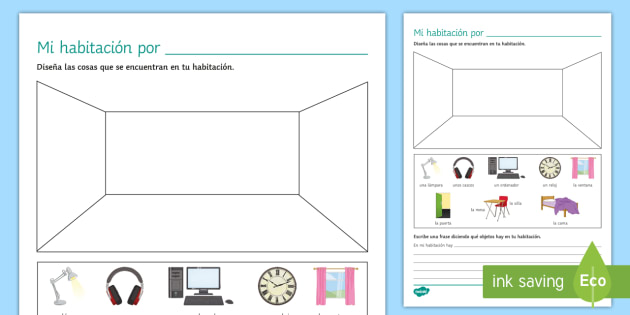 My Bedroom Worksheet / Worksheet - Spanish Vocabulary ...