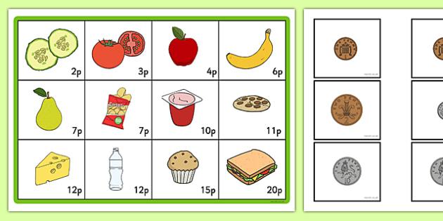 coin addition bingo game to 20p coin cfe scotland mathematics numeracy. Black Bedroom Furniture Sets. Home Design Ideas