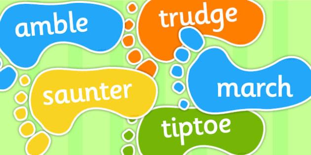 Alternative Words For Walk - literacy, alternate words, writing
