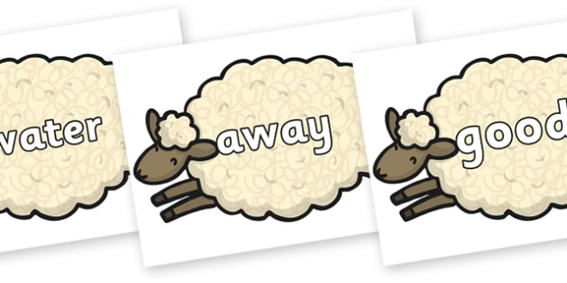 Next 200 Common Words on Sheep - Next 200 Common Words on  - DfES Letters and Sounds, Letters and Sounds, Letters and sounds words, Common words, 200 common words