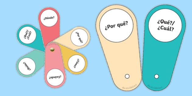 Question Word Fan-Spanish