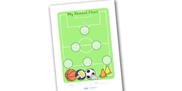 Sport Sticker Reward Chart (30mm) - Sport Reward Chart (30mm), reward chart, sport, chart, reward, 30mm, 30 mm, stickers, twinkl stickers, award, certificate, well done, behaviour management, behaviour, sport, sports, football, netball, gymnastics, a