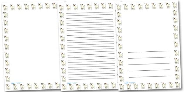 Baby Goat Portrait Page Borders- Portrait Page Borders - Page border, border, writing template, writing aid, writing frame, a4 border, template, templates, landscape