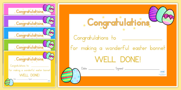Easter Certificates - easter, certificate, award, RE, religion