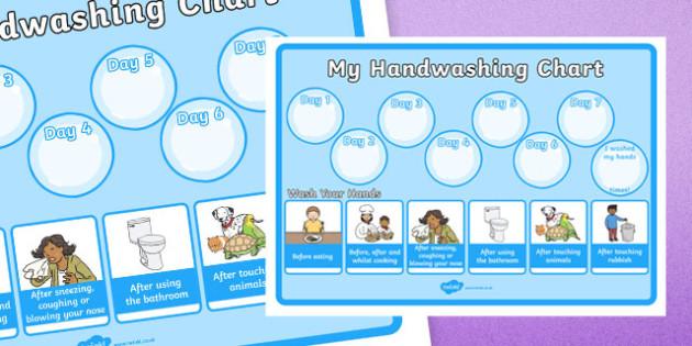 Hand Washing Record Chart Display Poster - hand washing, hygiene, hand washing chart, how many times I have washed my hands, my hand washing chart, hand washing record