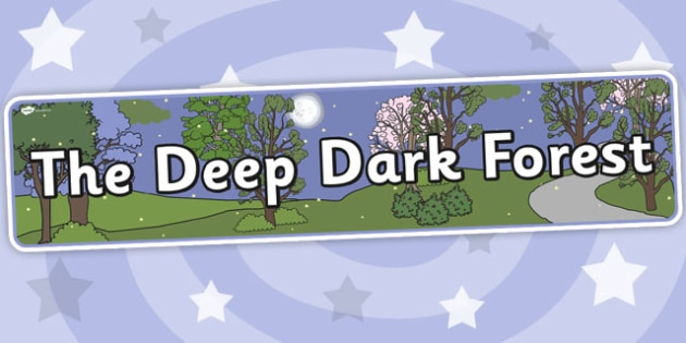 The Deep Dark Forest Display Banner - banners, displays, forests