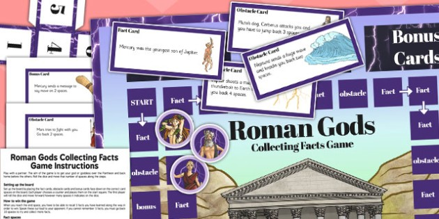 The Romans Collecting Facts Board Game - romans, board, game