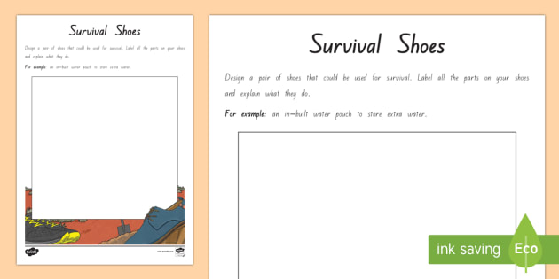 Survival Shoes Activity - New Zealand Chapter Chat, Chapter Chat NZ, Chapter Chat, Holes, Years 5 and 6, Survival, Shoes