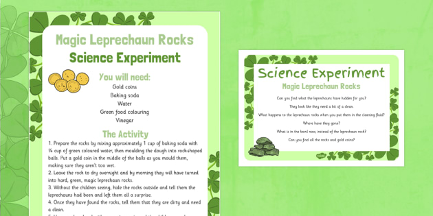 Magic Leprechaun Rocks Science Experiment - St Patricks Day, EYFS, magic