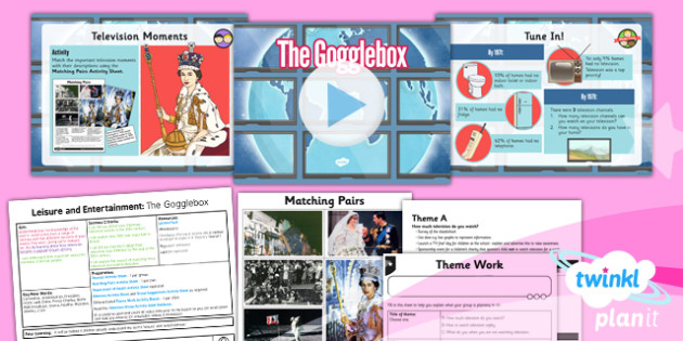 History: Leisure and Entertainment: The Gogglebox UKS2 Lesson Pack 5